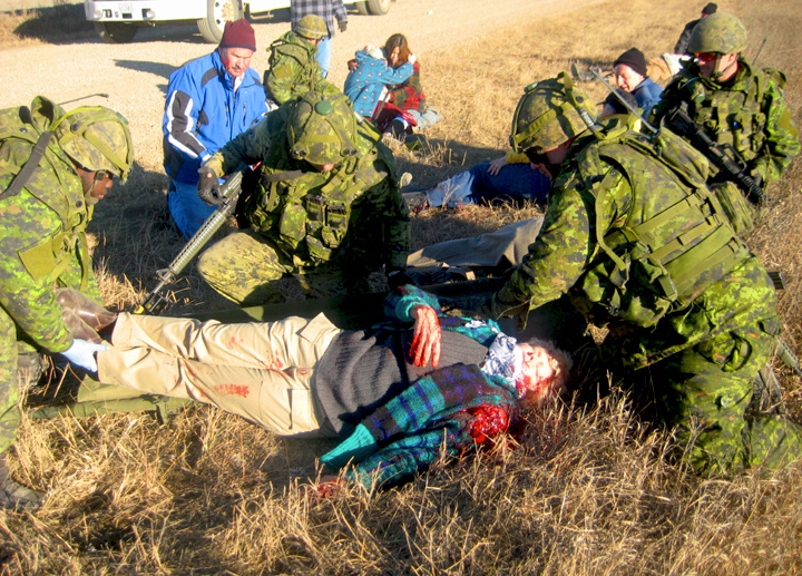 MP Cheryl Gallant Joins CFB Petawawa Soldiers on Training Exercise